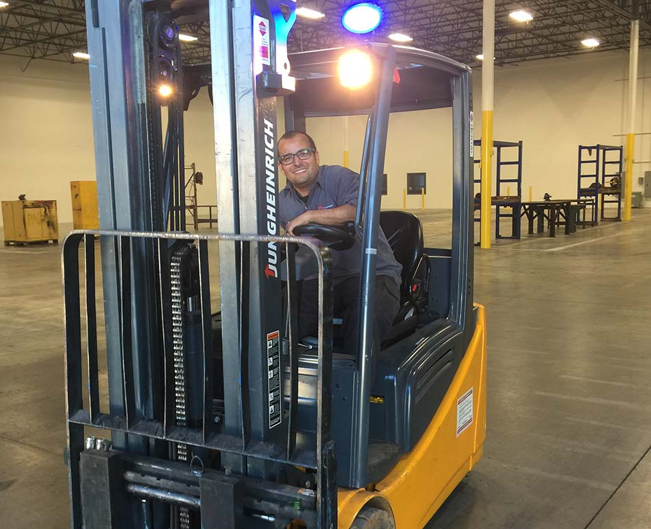 forklift service with a smile